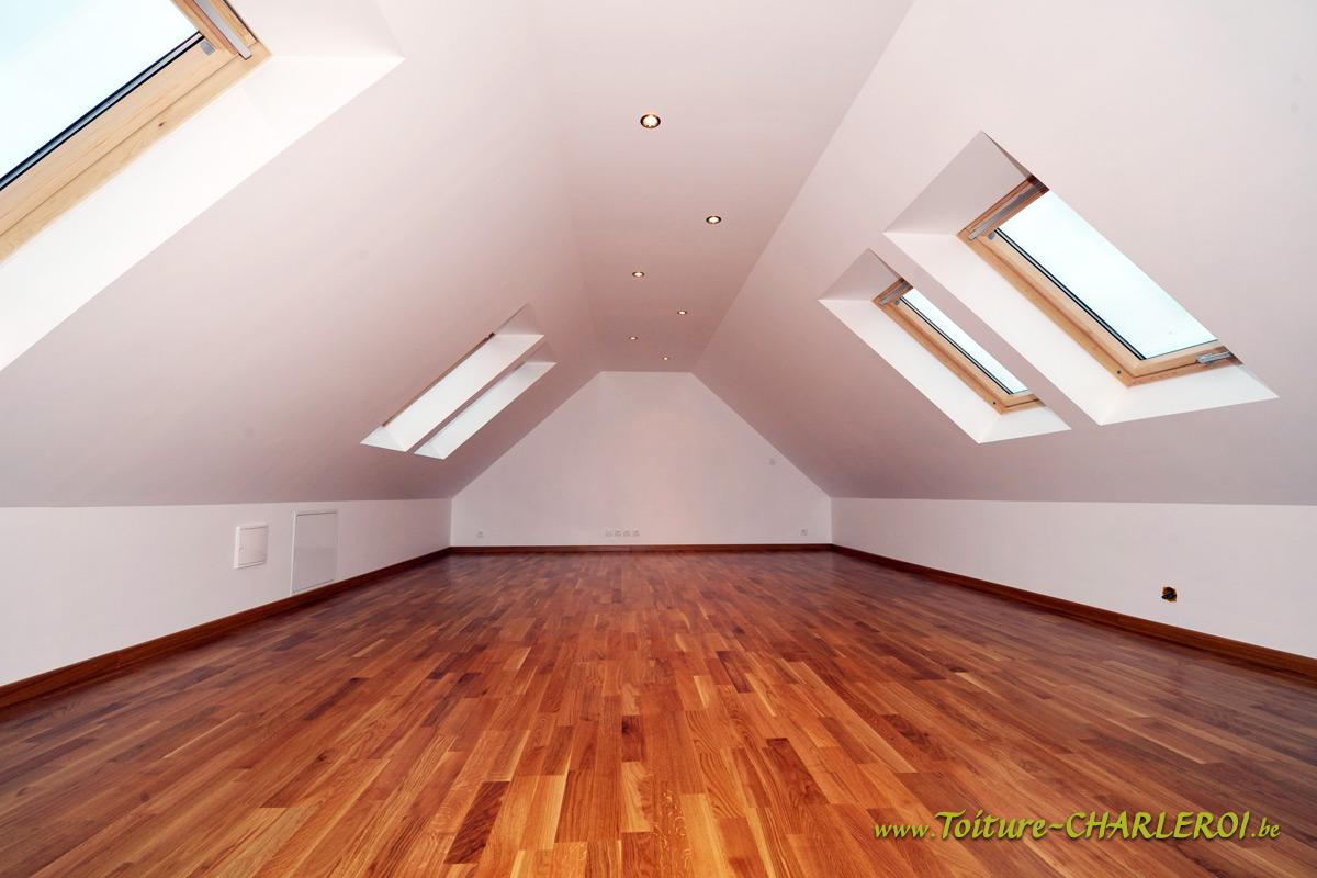 AMÉNAGEMENT grenier Charleroi - Transformation toiture