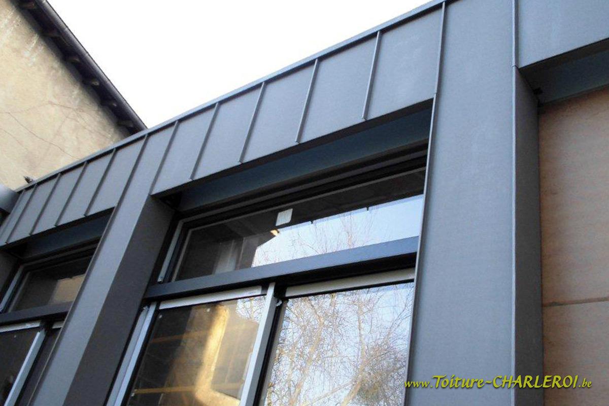 Bardage toiture charleroi en bois pvc zinc tole ardoise for Tole en zinc pour toiture
